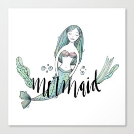 Art sleeping mermaid Canvas Print