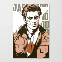jay fleck Canvas Prints featuring Jay by Shop 5