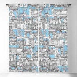 Paris toile cornflower blue Blackout Curtain
