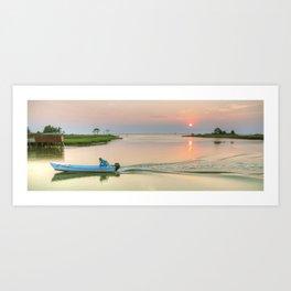 Morning Boat Ride Art Print