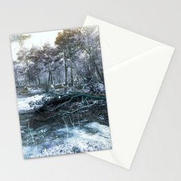 Icy Forest Stationery Cards