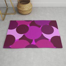 Abstract Circles Pink Rug
