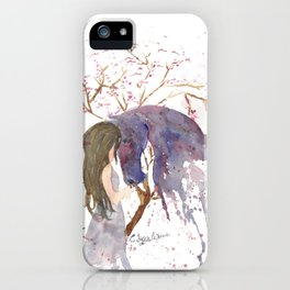 A Piece of her Soul Watercolor iPhone Case
