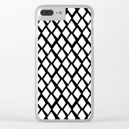 Rhombus White And Black Clear iPhone Case