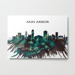 Ann Arbor Skyline Metal Print