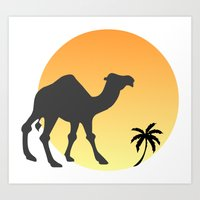 camel Art Prints featuring Camel by Geni