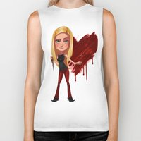 buffy Biker Tanks featuring Buffy the Heart Slayer by Isaiah K. Stephens
