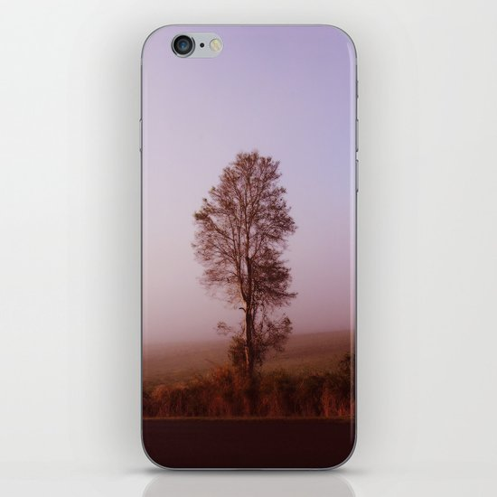 Standing alone in the fog iPhone & iPod Skin