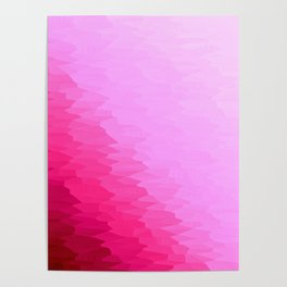 Pink Texture Ombre Poster
