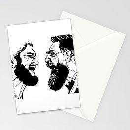 Conor McGregor vs Khabib Nurmagomedov B&W Stationery Cards