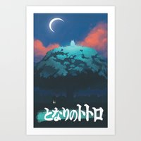 ghibli Art Prints featuring Ghibli print    by pHoran