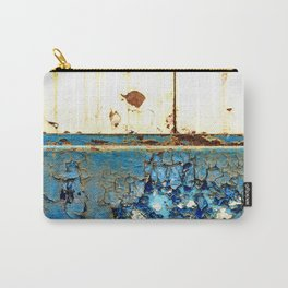 Industrial Rust on Blue Metal Carry-All Pouch