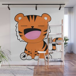 Happiest Tiger Wall Mural