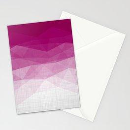 Imperial Ruby - Geometric Triangles Minimalism Stationery Cards