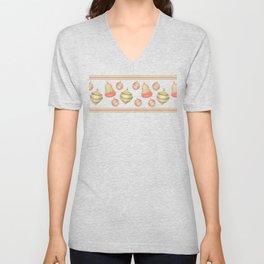 Christmas Ugly T-Shirt Styled Ornaments Unisex V-Neck