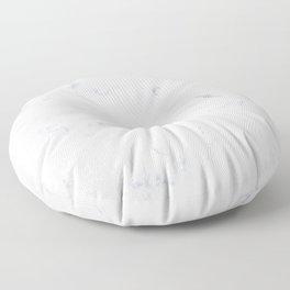Classic Grey and White Natural Stone Veining Quartz Floor Pillow