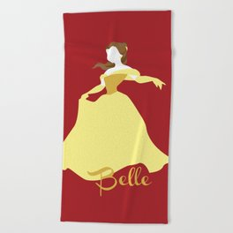 Belle from Beauty and the Beast Beach Towel
