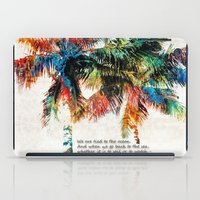 jfk iPad Cases featuring Colorful Palm Trees - Returning Home - By Sharon Cummings by Sharon Cummings