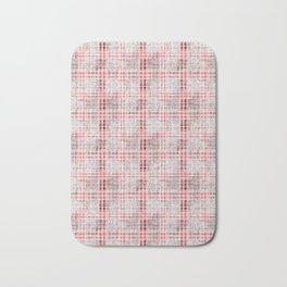 Classical red-gray cell. Bath Mat
