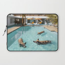 Pig Poolside Party Laptop Sleeve