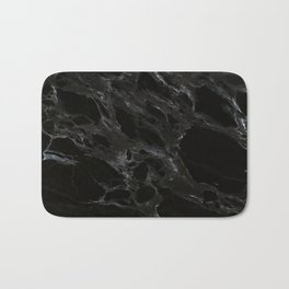Black marble Bath Mat