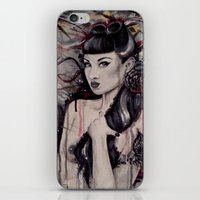 pinup iPhone & iPod Skins featuring pinup by Andreea Red