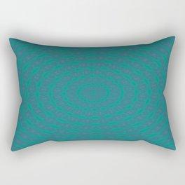 Aurora Radial Kaleidescope In Teal and Aqua Rectangular Pillow