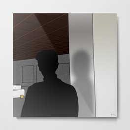 in one dream, tabi searches the crevices of his mind... Metal Print