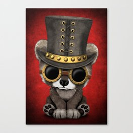 Steampunk Baby Raccoon Canvas Print
