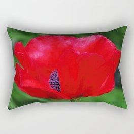 Red oriental poppy flower Rectangular Pillow
