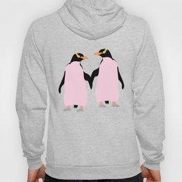 Gay Pride Lesbian Penguins Holding Hands Hoody