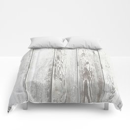 Wood Slatted plank fence background Comforters