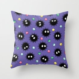 Soot Sprites (Purple) Throw Pillow