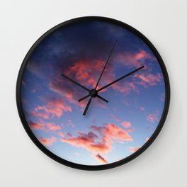 Pastel clouds Wall Clock