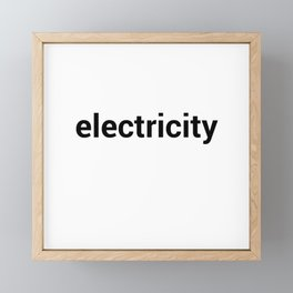 electricity Framed Mini Art Print