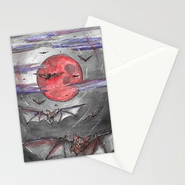 Bat Moon Stationery Cards