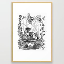 Mouse in the hause illustration Framed Art Print