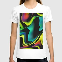 Hot abstraction with lines 4 T-shirt
