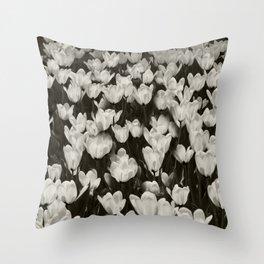 Field of white butterflies  Throw Pillow