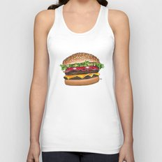 junk food - burger Unisex Tank Top