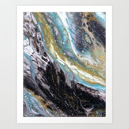 A View from the ISS - Abstract Flow Acrylic Art Print