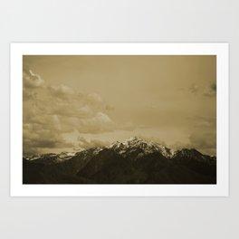 Utah Mountain in Sepia Art Print