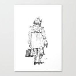 Lady with Bag Canvas Print