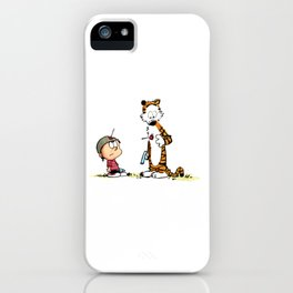 Calvin And Hobbes playing iPhone Case
