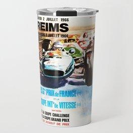 Gran Prix de Reims 1966, vintage poster, race poster, car poster Travel Mug