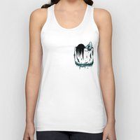 pocket Tank Tops featuring Pocket Samara by Mike Handy Art