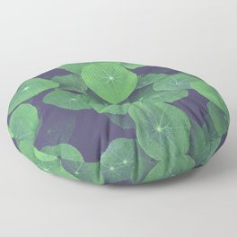 Nasturtium Leaves Floor Pillow