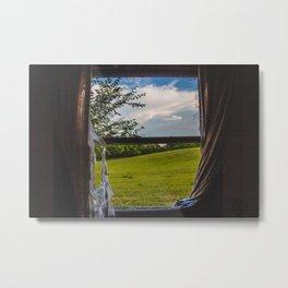 Living Room Window, Abandoned Farm House, North Dakota 3 Metal Print
