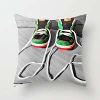 sneaker Throw Pillows featuring Sneaker Love by SefoG