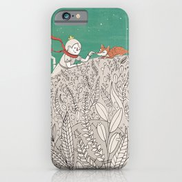 The Little Prince and fox iPhone Case